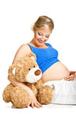 Pregnant woman Stock Images