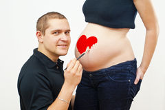 Pregnant woman Stock Image