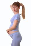 Pregnant woman. On white background Royalty Free Stock Photography