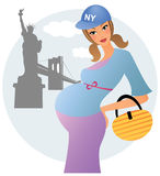 Pregnant woman in Americe Stock Photo