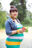 A pregnant woman. Awaiting the birth of the child Royalty Free Stock Photos