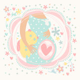 Pregnant woman with baby inside, happy child Royalty Free Stock Images