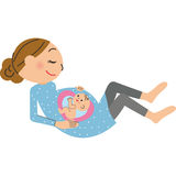 Pregnant woman and baby Royalty Free Stock Photos