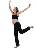 Pregnant Woman Balance Exercise Stock Image