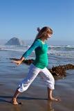 Pregnant woman on beach Royalty Free Stock Photos
