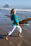 Pregnant woman on beach Royalty Free Stock Photography