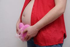 Pregnant Woman. Beautiful belly of a pregnant woman Royalty Free Stock Image