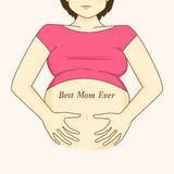 Pregnant woman belly Royalty Free Stock Photos