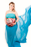 Pregnant woman with body-art of a baby Royalty Free Stock Images