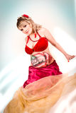 Pregnant woman with body-art of a baby Royalty Free Stock Photos