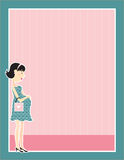 Pregnant Woman Border Stock Photo