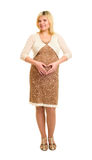 Pregnant woman in brown dress Stock Photography