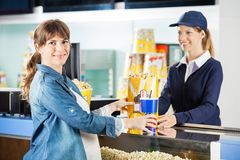 Pregnant Woman Buying Snacks From Seller At Royalty Free Stock Photo