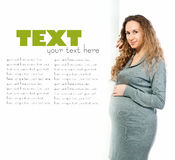 Pregnant woman caressing her belly Royalty Free Stock Photos