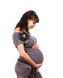 Pregnant woman casual Stock Image