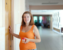 Pregnant woman at the clinic Stock Photos