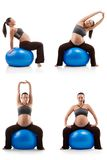 Pregnant woman doing exercises Stock Photo