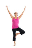 Pregnant woman doing yoga Royalty Free Stock Photography