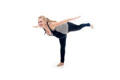 Pregnant woman doing yoga Royalty Free Stock Photo
