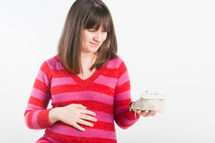 The pregnant woman are dreams Stock Images