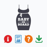 Pregnant woman dress sign icon. Maternity symbol Stock Photography