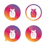 Pregnant woman dress sign icon. Maternity symbol. Royalty Free Stock Image