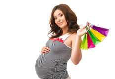 Pregnant woman in a dress Stock Photography