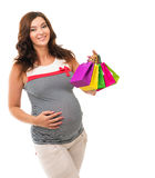 Pregnant woman in a dress Stock Photo