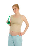 Pregnant woman drink water Royalty Free Stock Images