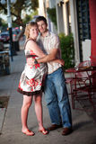 Pregnant woman embracing her partner Stock Photography