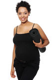 Pregnant woman excercising Royalty Free Stock Images