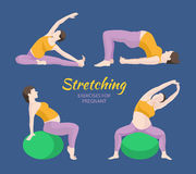 Pregnant Woman Exercise Stock Image