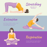 Pregnant Woman Exercises Royalty Free Stock Photography