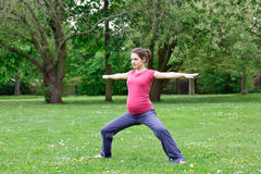 Pregnant woman exercising Stock Photography