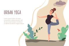 01 Urban yoga vector illustration