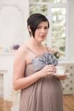 Pregnant woman expecting her baby Stock Photography