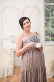 Pregnant woman expecting her baby Royalty Free Stock Photography