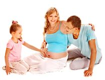 Pregnant woman with family. Stock Photography