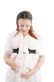 Pregnant woman feeling pain in her back Royalty Free Stock Photo