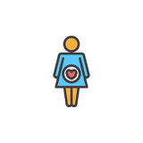 Pregnant woman filled outline icon, line vector sign, linear colorful pictogram. Stock Photography