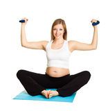 Pregnant woman fitness Royalty Free Stock Photos