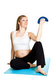 Pregnant woman fitness Stock Images