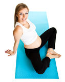 Pregnant woman fitness Royalty Free Stock Image