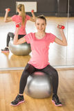 Pregnant woman. Fitness. Stock Photo