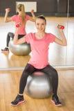 Pregnant woman. Fitness. Stock Photo