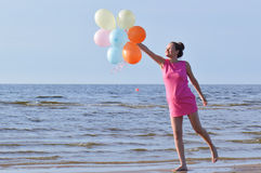 Pregnant woman fly away Stock Images