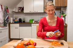 Pregnant woman with fresh organic food Royalty Free Stock Photos