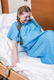 Pregnant woman giving birth in hospital Royalty Free Stock Images