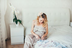 A  pregnant woman Royalty Free Stock Photos