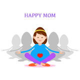 Pregnant woman, Happy mom concept, meditation and yoga for pregn Royalty Free Stock Photos